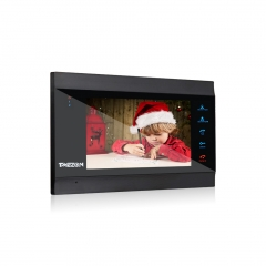 TMEZON 7 Inch IP Touch Button Monitor, work with Analog Monitor MZ-VDP-739EM & Outside Doorbell MZ-VDP-NE120