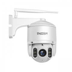 TMEZON 2.5 Inch 2MP 1080P Starlight PTZ Cloud IP Security Camera, 4mm Lens Auto IR Cut Night Vision, Email Alarm, 2-Way Audio & IP66 Dome Camera