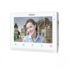 TMEZON 10 Inch IP Monitor for Video Intercom Doorbell System, Touch Screen, 2 Way Audio with Night Vision