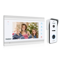 TMEZON Video Doorbell AHD 1080P Home Security System with 7 Inch LCD TFT, IR Night Vision, 2 Way Talk, Snapshot & Record